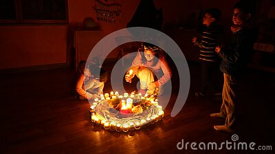 Children Lighting Candles In Circle Free Public Domain Cc0 Image