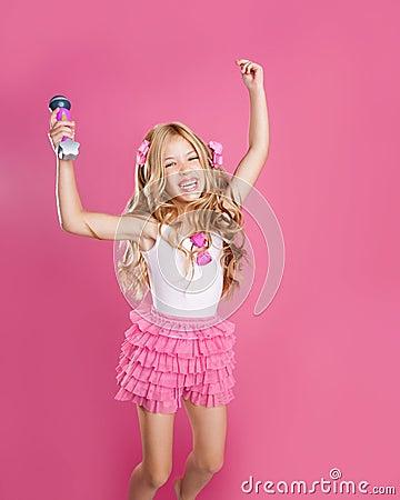Children little star singer like fashion doll