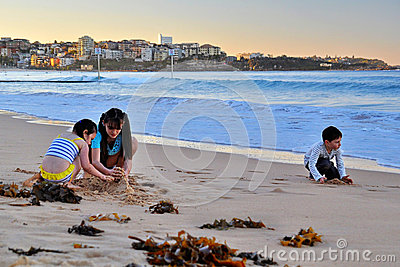 Children at Manly Editorial Photo