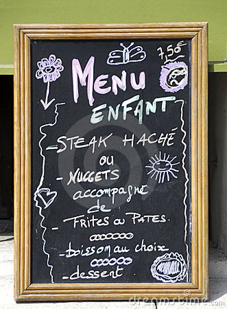 Children menu sign