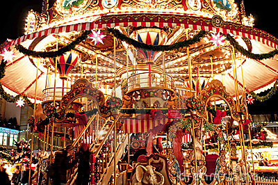 Children Merry-go-round At Christmas Market Royalty Free Stock Photography - Image: 17600607
