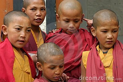 CHILDREN IN MONASTERY OF LADAKH Editorial Image