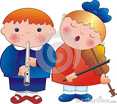 Children musicians