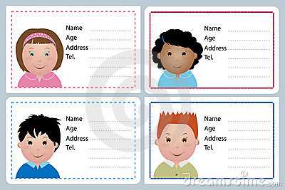 Children name card