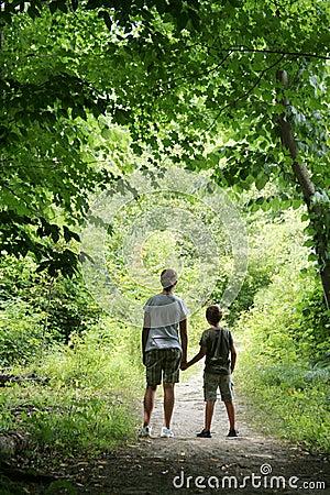 Children on Nature Hike