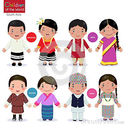 Free Children Of The World (Maldives, India, Bhutan And Nepal) Stock Image - 64778931