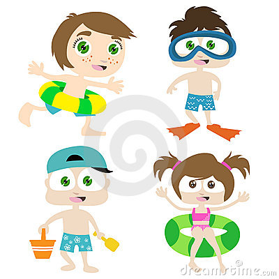 Free Children On A Beach 1 Royalty Free Stock Image - 9955376