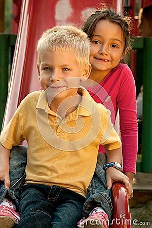 Free Children On Slide Stock Photos - 17910703