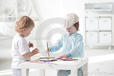 Children paint