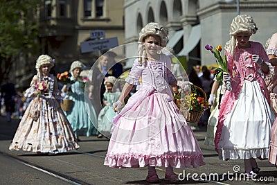 Children parade, Zurich, Switzerland Editorial Stock Image