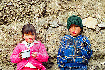 Children of Peru Editorial Photo