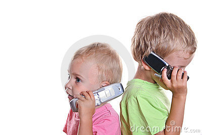 Children with phones