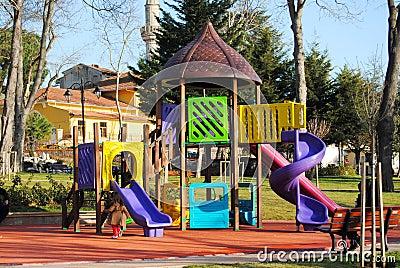 Children play the child s ground in park