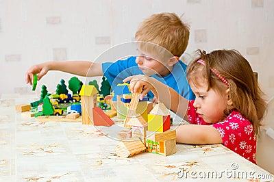 Children play cube