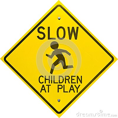 Children at Play Sign Diamond Shaped