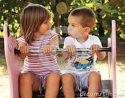 Children at the playground