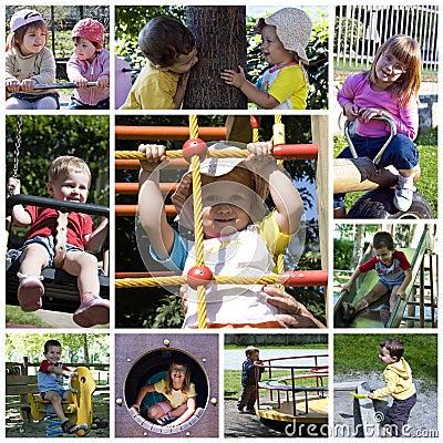 Children playground - collage