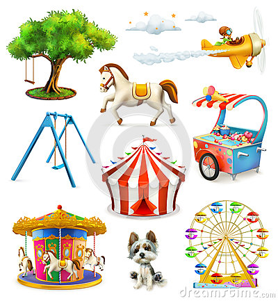 Free Children Playground Icons Stock Photography - 72788012