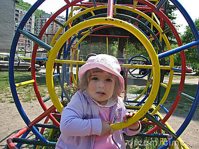 Children in the playground park