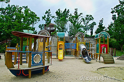 Children playground in the park