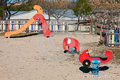 Children playground in the park.