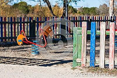 Children playground in the park.