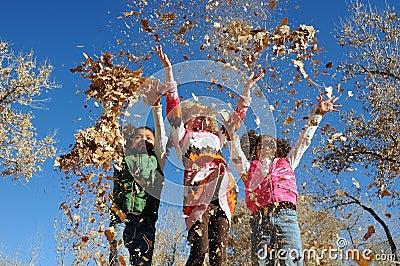 Image result for children in leaves