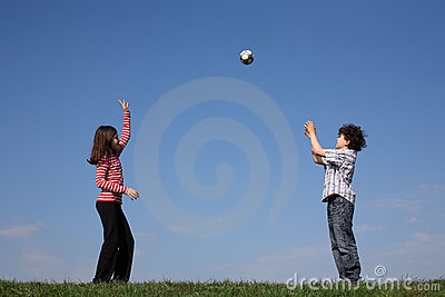 Children playing ball