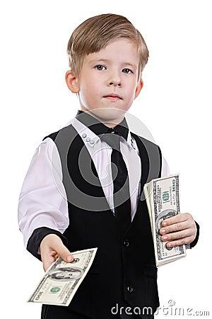 Children playing banker