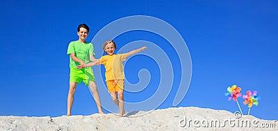 Children playing on beach