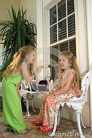 Children playing dressup