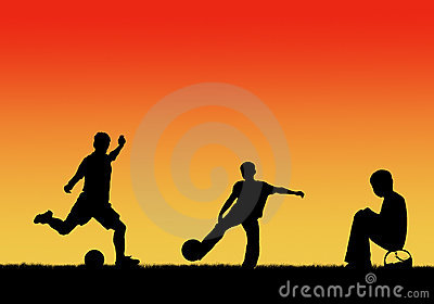 Children playing footbal