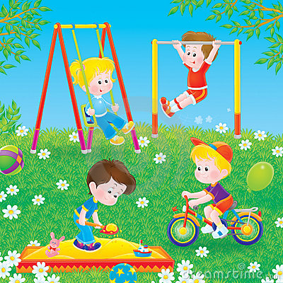 Free Children Playing In A Playground Royalty Free Stock Image - 16193566