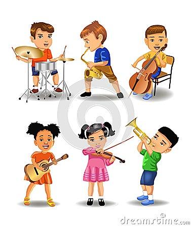 Children playing instruments