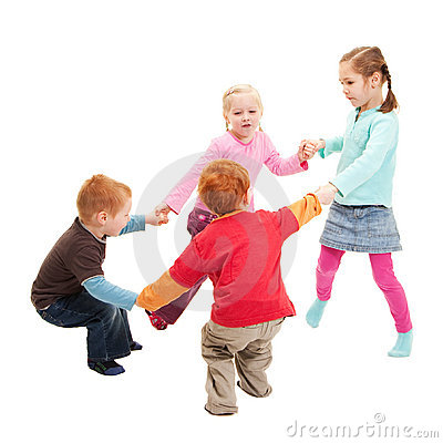 Free Children Playing Kids Game Holding Hands In Circle Stock Images - 20371754