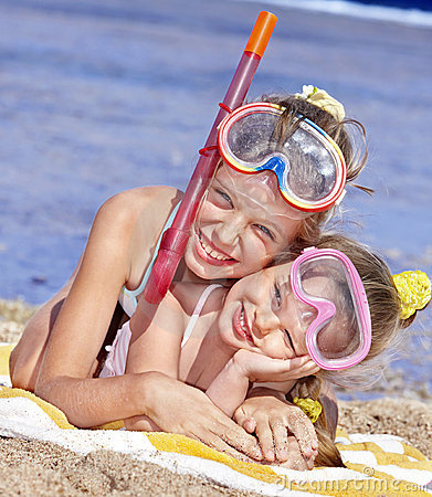 Free Children Playing On  Beach. Royalty Free Stock Image - 18437566
