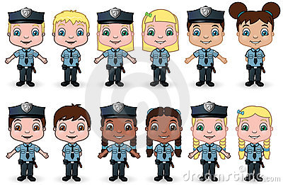 Children Police Set 1