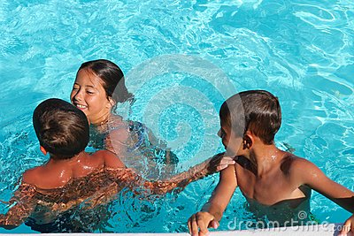 Children in the pool