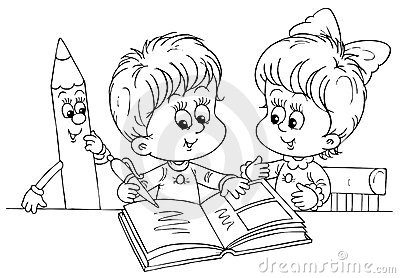 Children Reading A Book Stock Photography - Image: 14976122