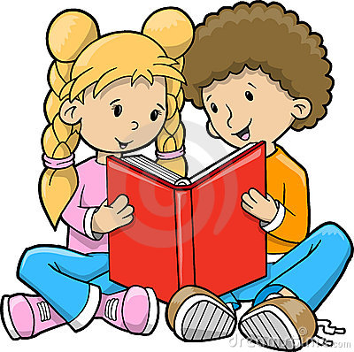 clip art books reading. clip art books reading. Children Reading Book Vector
