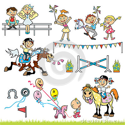 Children riders competition