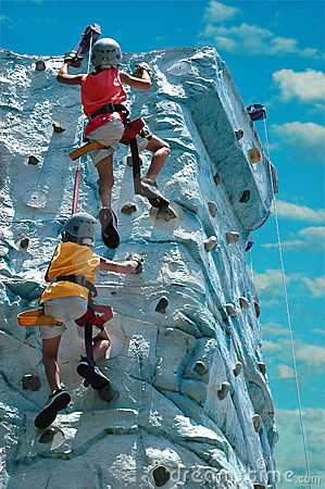 Free Children Rock Climbing Royalty Free Stock Image - 3098736