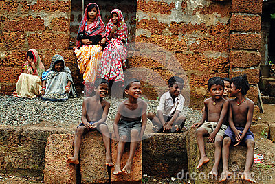 Children in rural India Editorial Photo