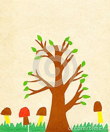 Children s application paint tree