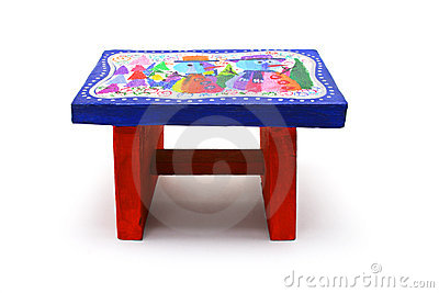 Children s art and craft - colourful stool