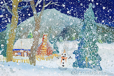 Children s Art - Snowfall