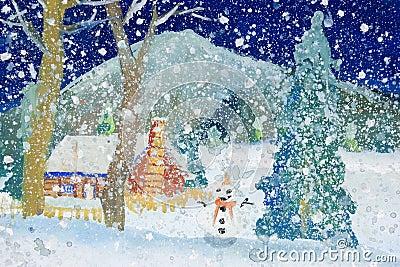 Children s Art - Snowfall