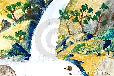 Children s Art - Waterfall