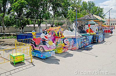 Children s attraction in Feodosia Editorial Stock Image