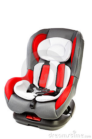 Children s automobile armchair  on a white